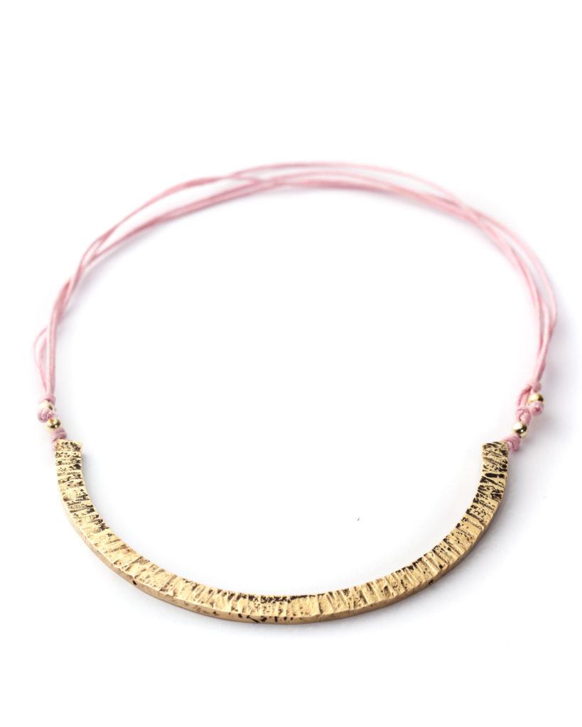Collana ottone rosa