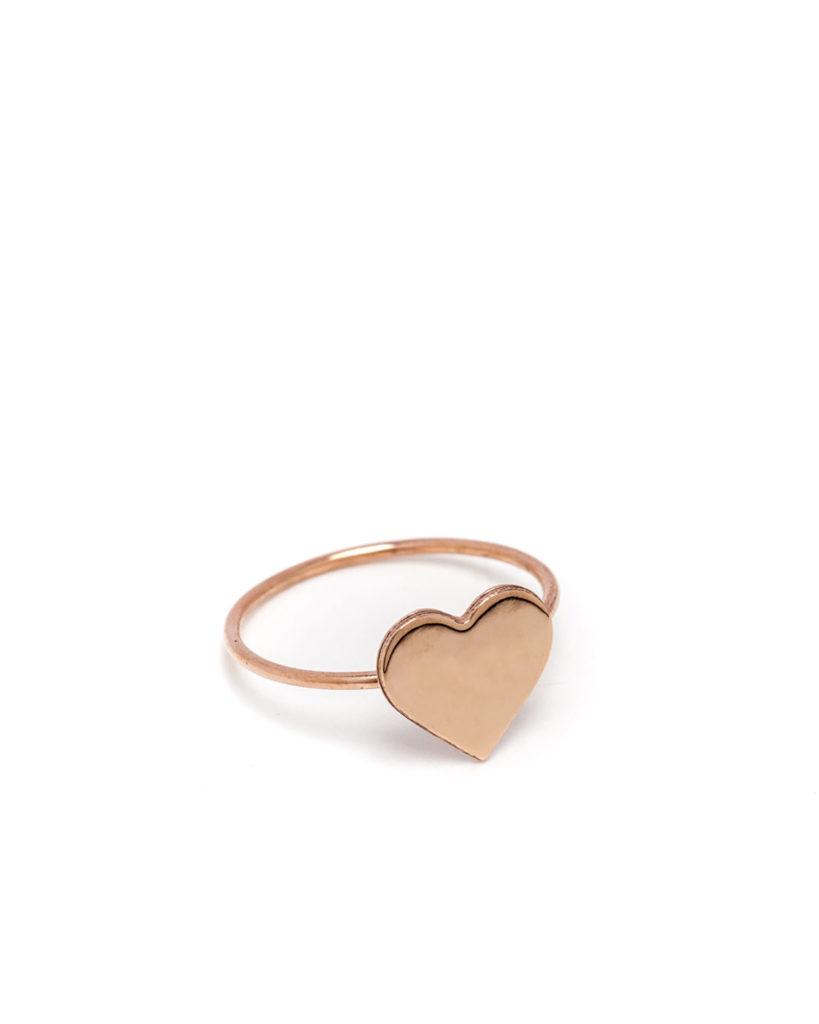 Anello cuore oro rosa