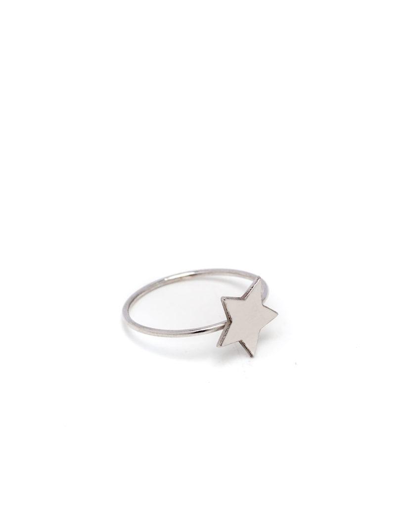Anello stella argento