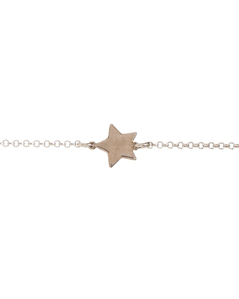 Bracciale stella argento