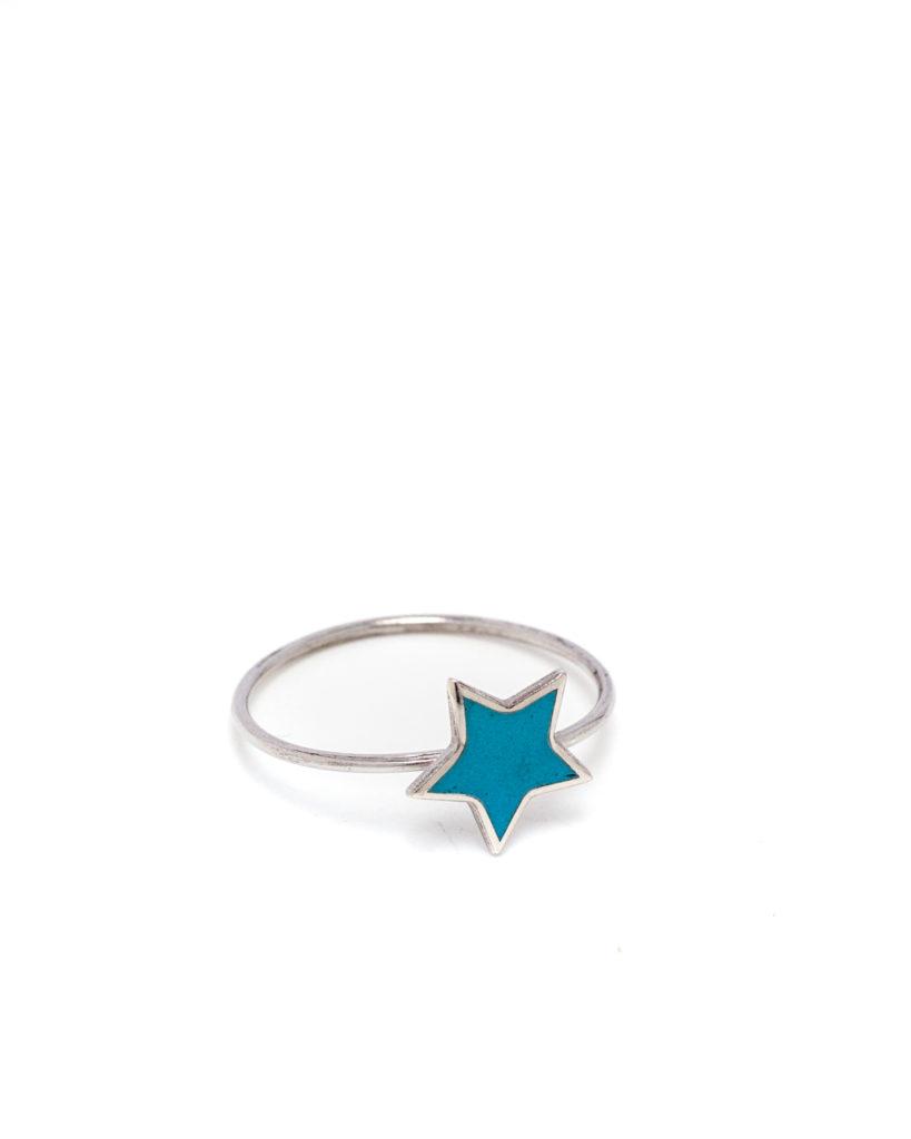 Anello stella azzurra