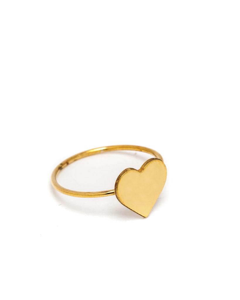 Anello cuore oro giallo