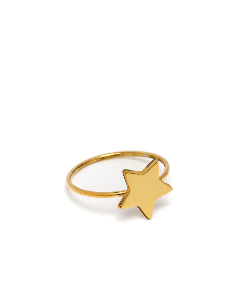 Anello stella oro giallo