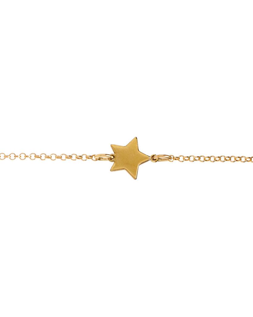 Bracciale stella oro giallo