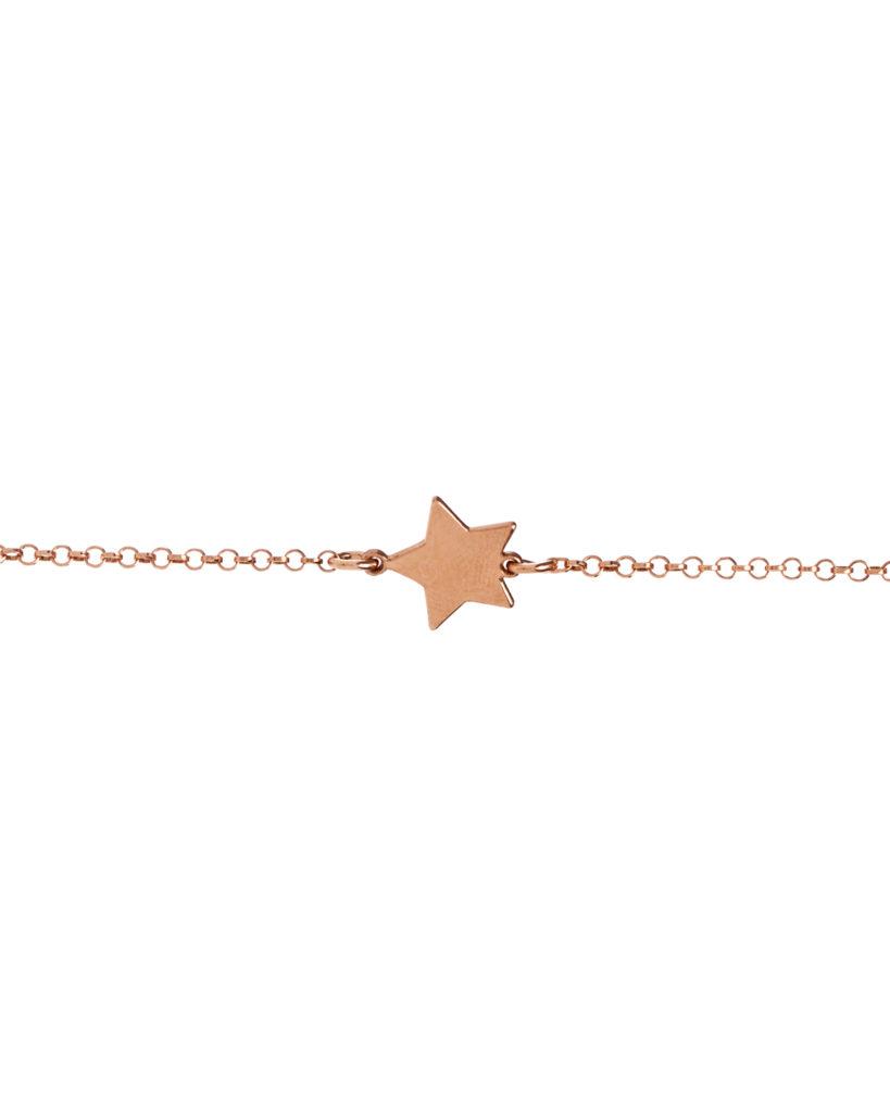 Bracciale stella oro rosa
