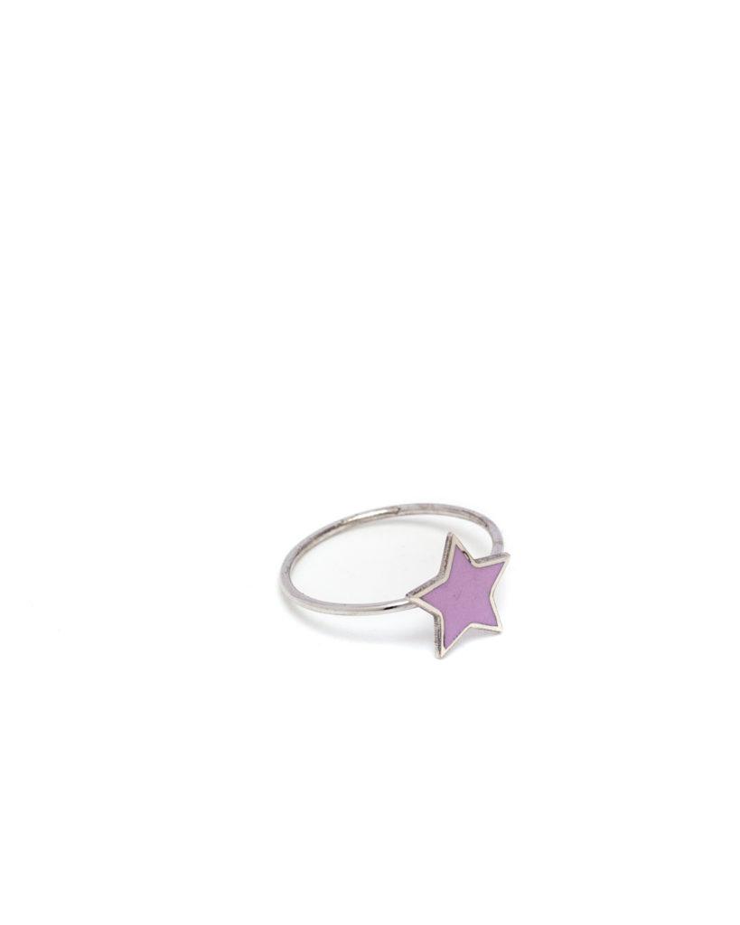 Anello stella rosa