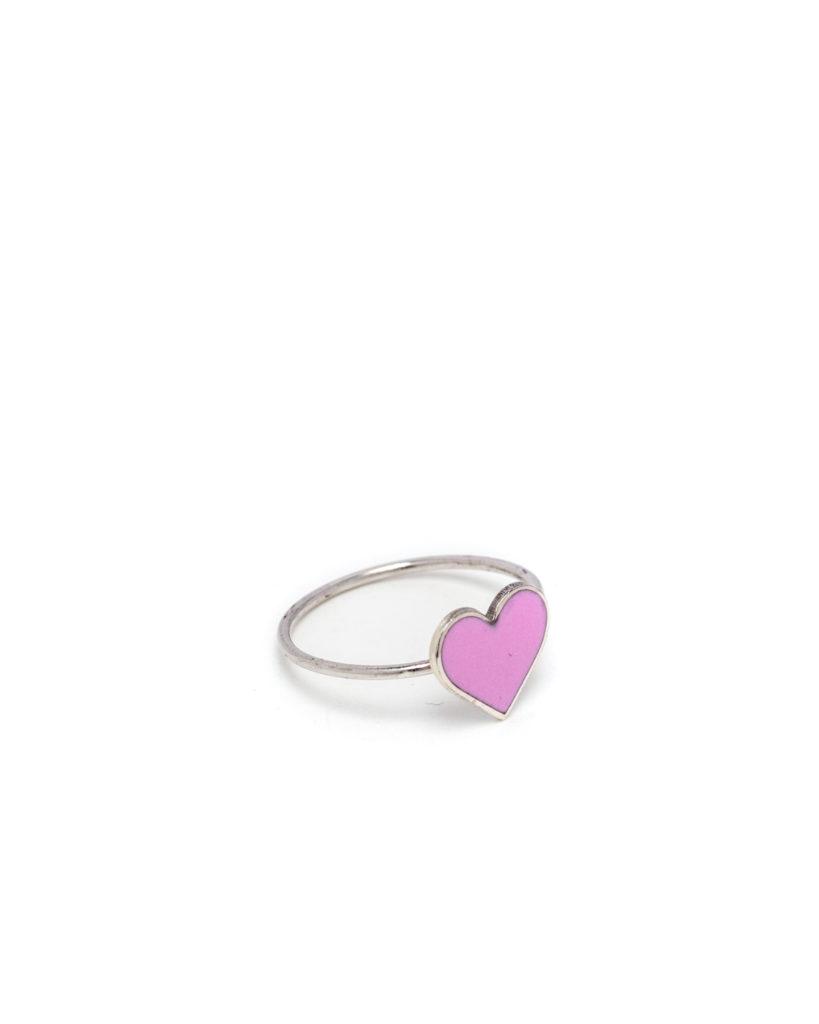 Anello cuore rosa