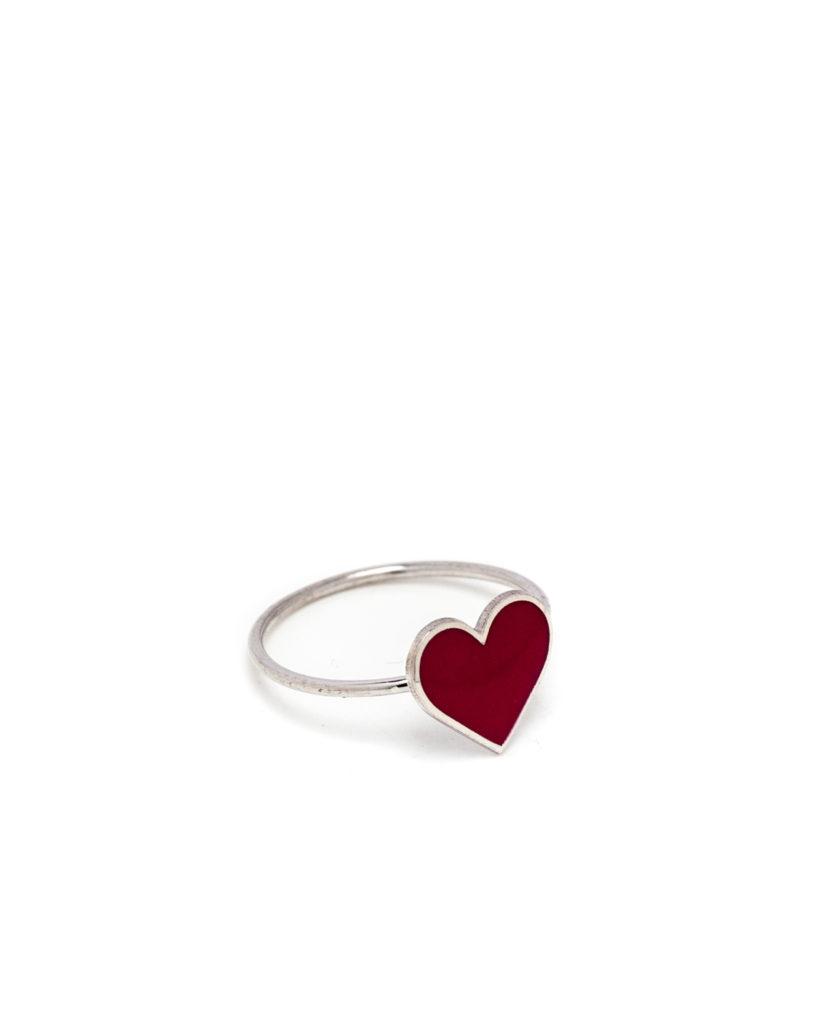 Anello cuore rosso