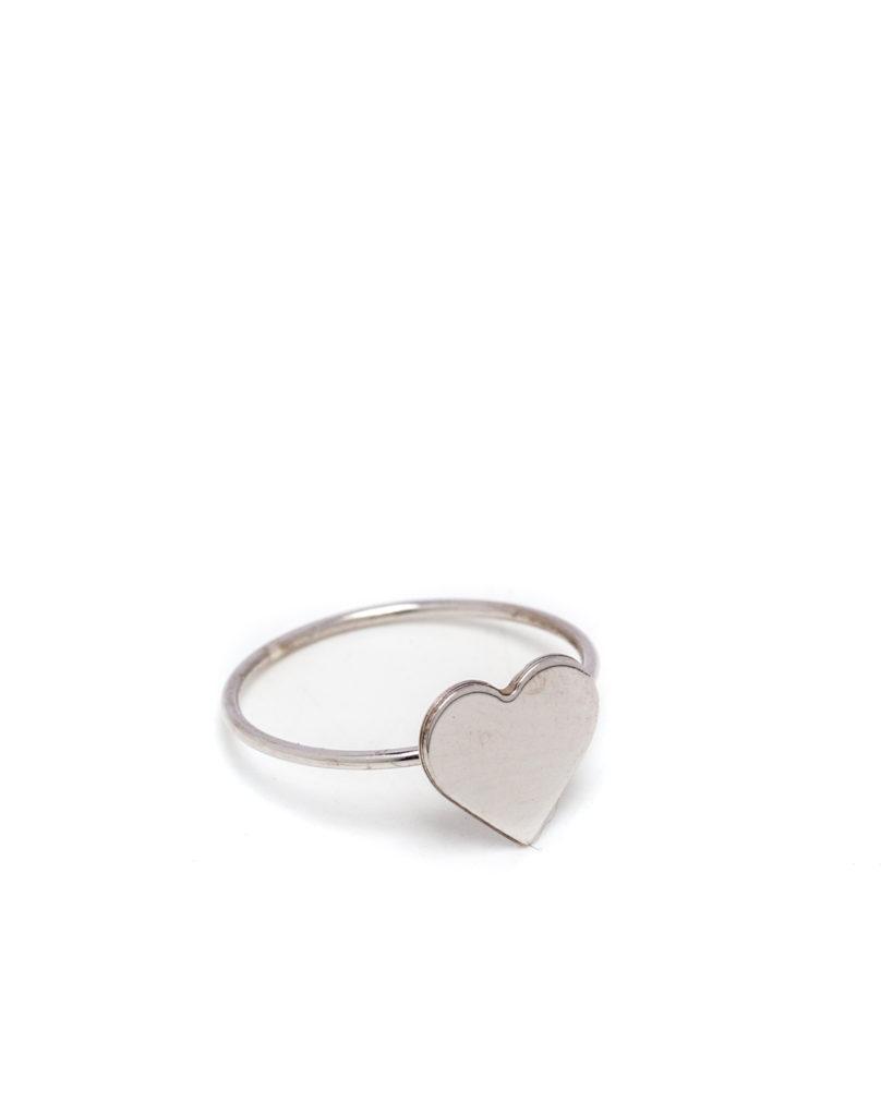 Anello cuore argento